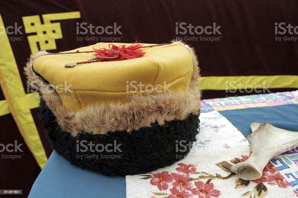 Festive head-dress royalty-free stock photo