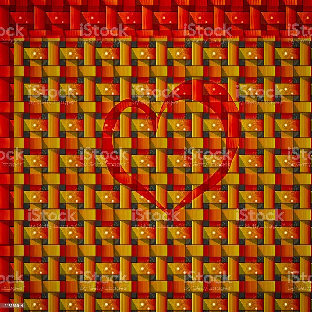 Festive holiday Card love heart stock photo