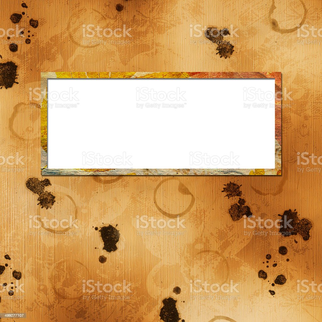 Festive invitation or greeting with frame and lace royalty-free stock photo