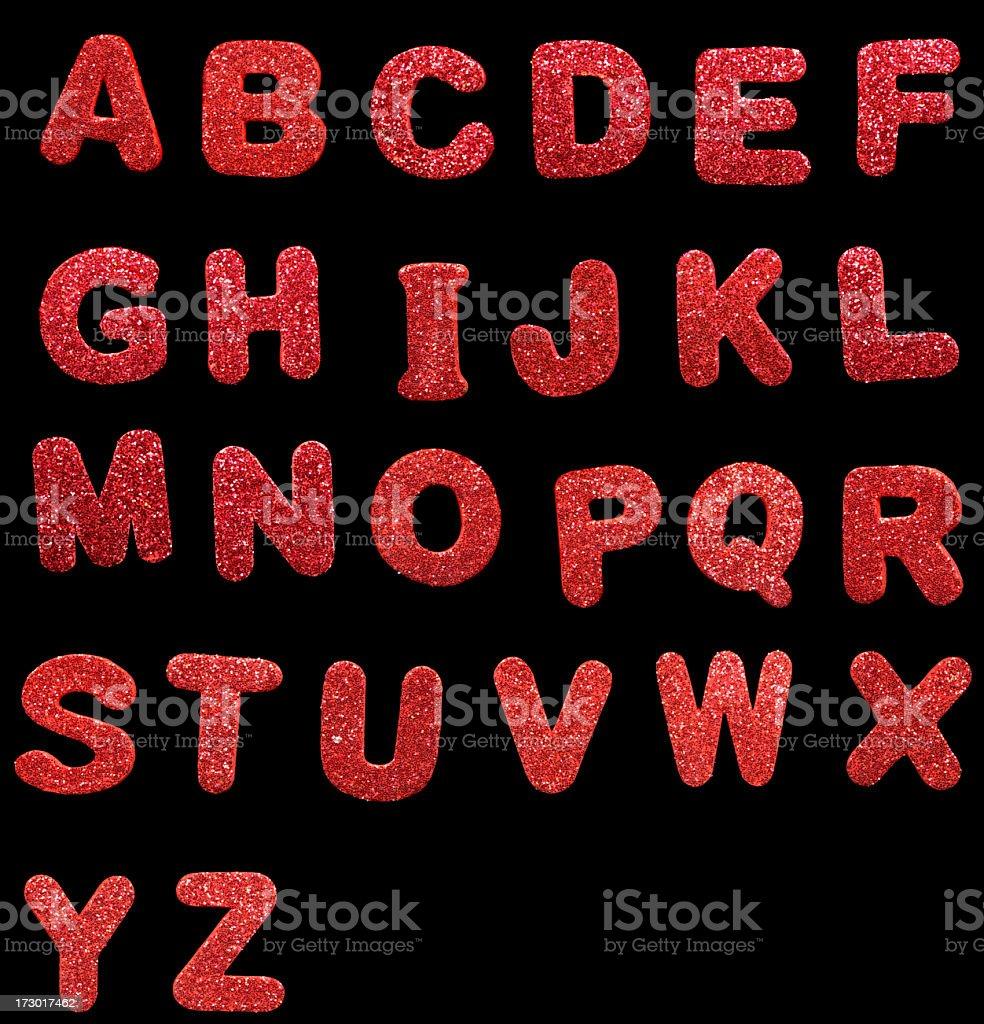 festive letters stock photo