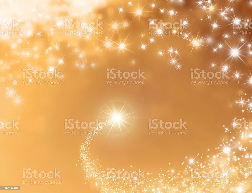 Festive lucky star background stock photo