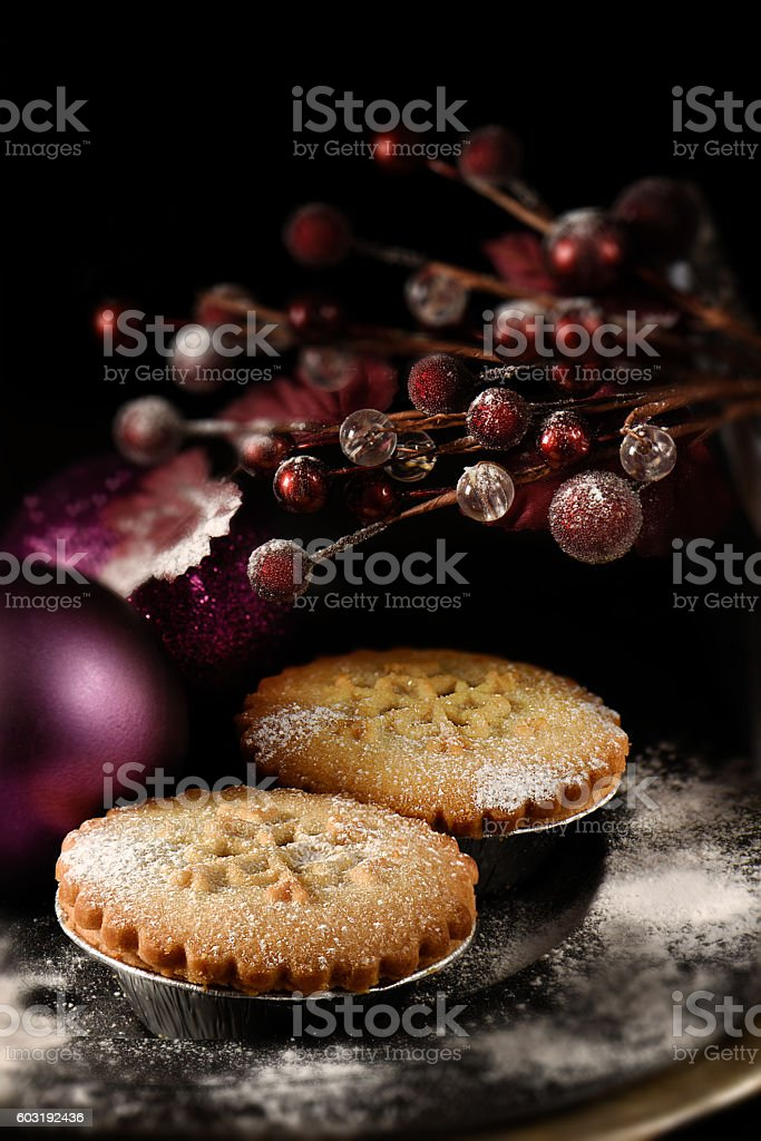 Festive Mince Pies II stock photo