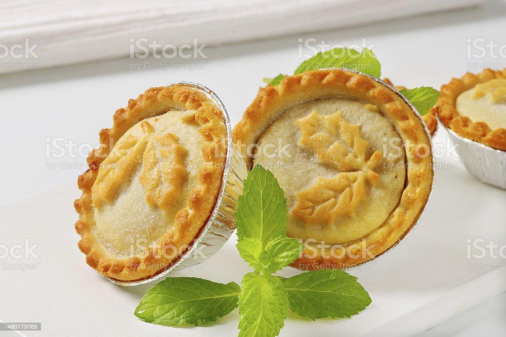 Festive mince pies stock photo