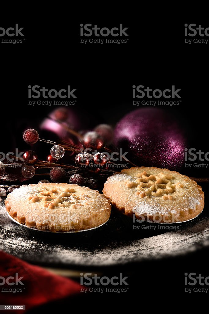 Festive Mince Pies stock photo