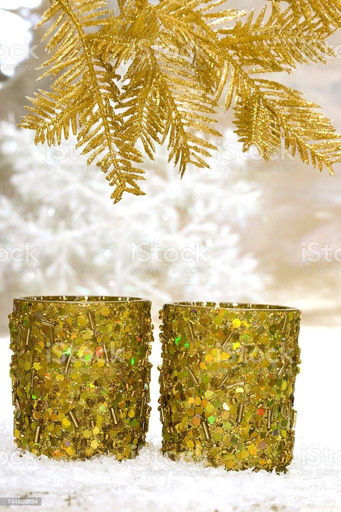 festive novo ano de velas com Árvore de Natal foto de stock royalty-free