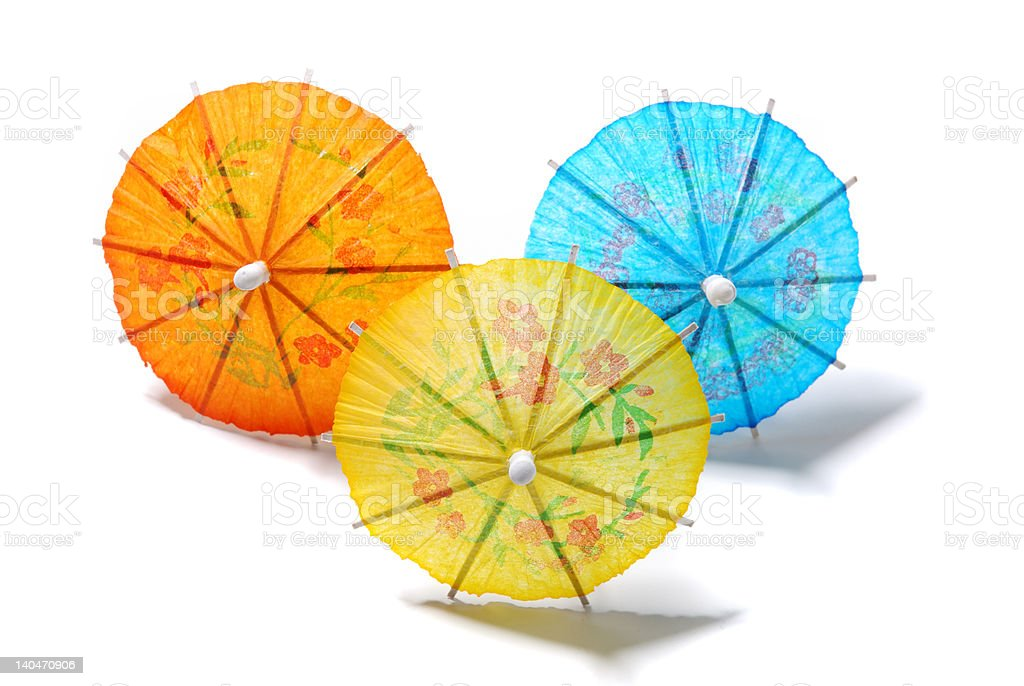 Festive Paper Umbrellas stock photo