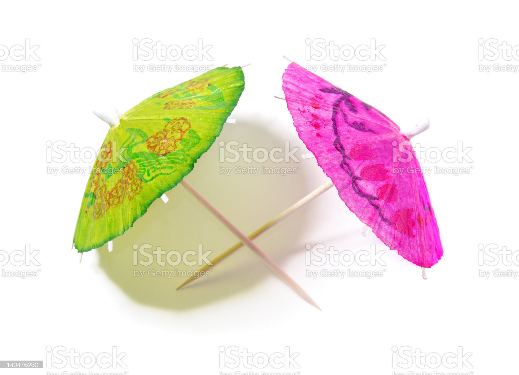 Festive Paper Umbrellas royalty-free stock photo