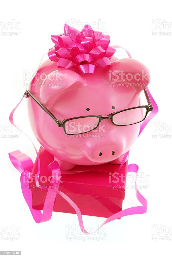 Festive Piggy Bank royalty-free stock photo