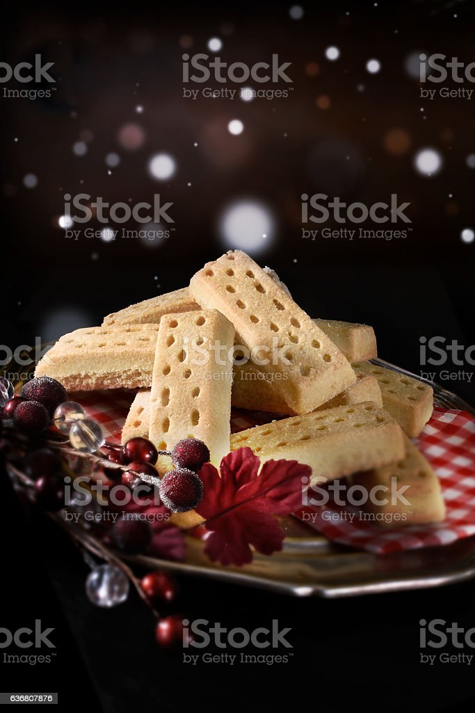 Festive Scottish Short Breads stock photo
