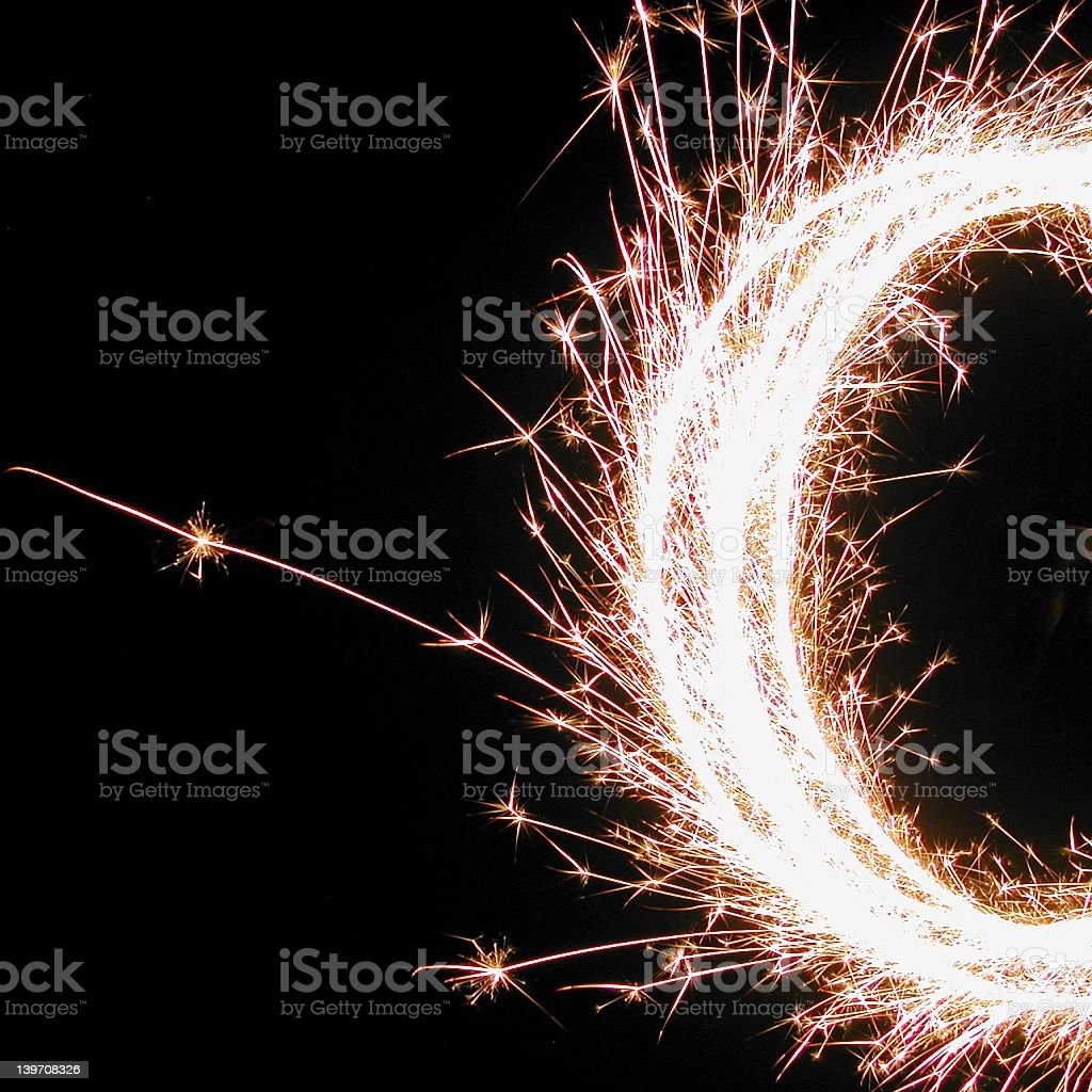Festive Sparkler royalty-free stock photo