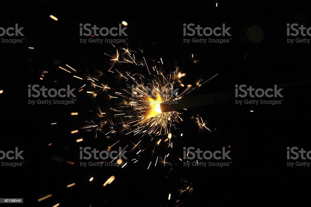 festive sparkler royalty-free stock photo