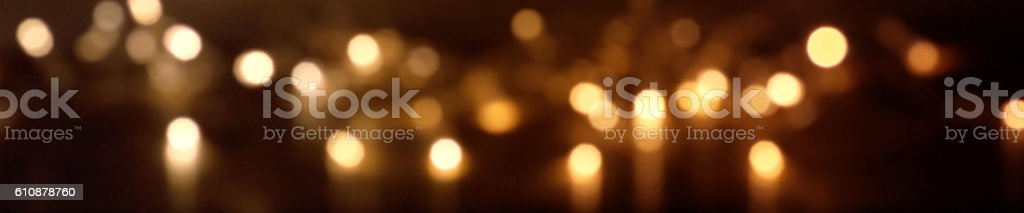 Festive sparkling lights at night stock photo
