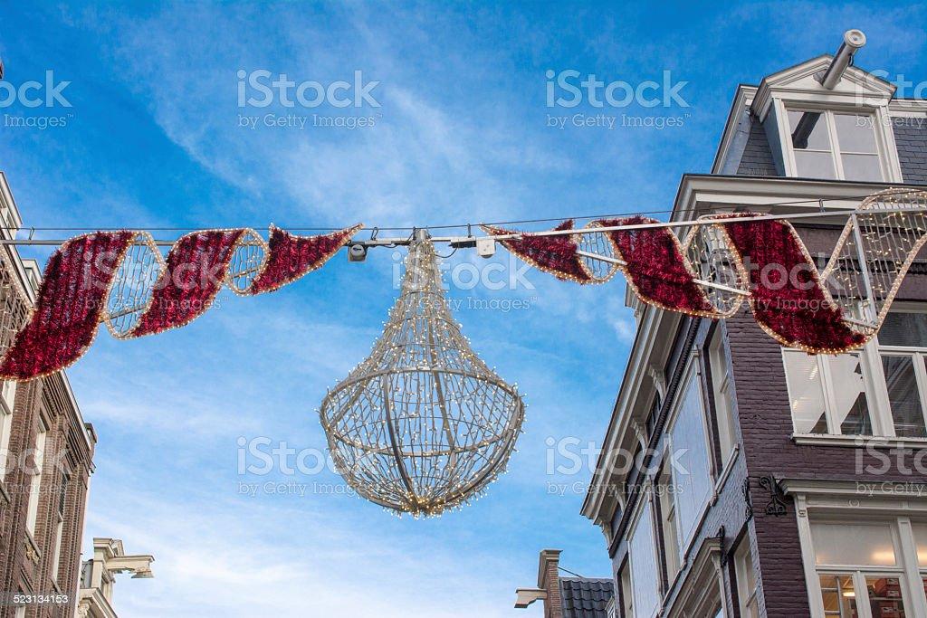 Festive street decoration stock photo