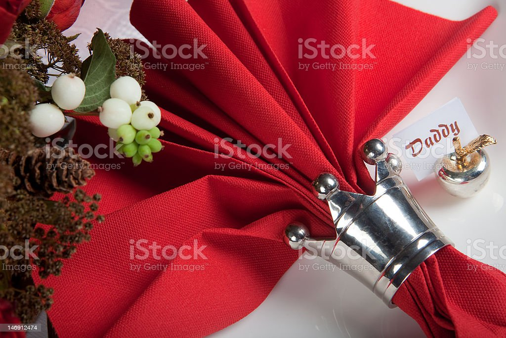 Festive table in red and white 10 royalty-free stock photo