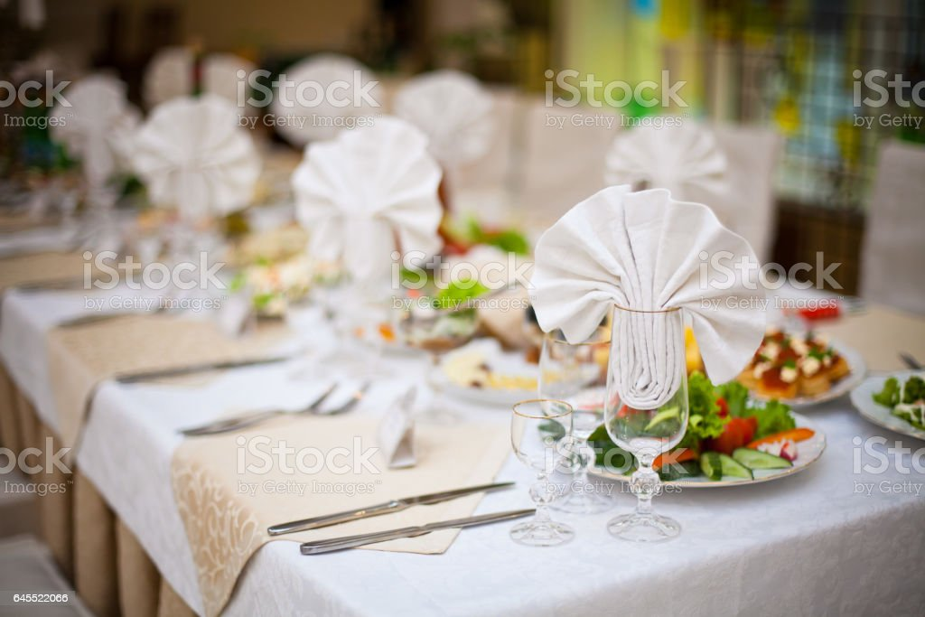 Table Setting Background festive table setting laying of a holiday table food background