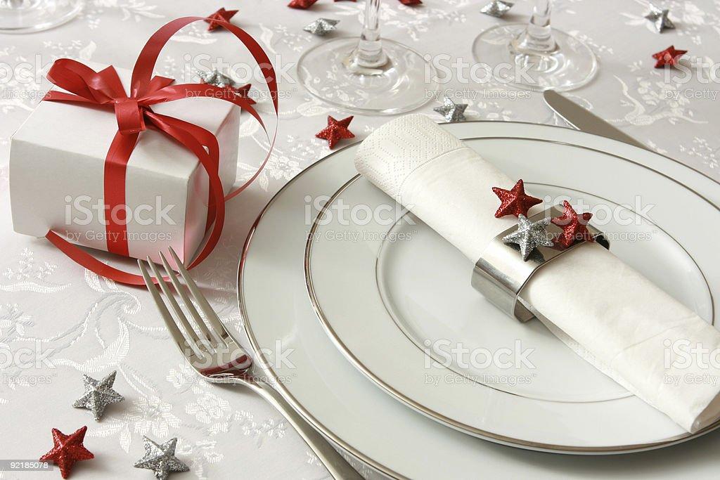 Festive table setting royalty-free stock photo