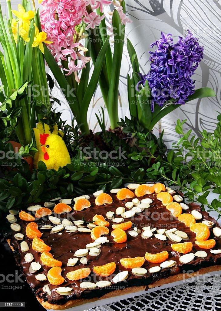 festive traditional for Easter cake called MAZUREK stock photo
