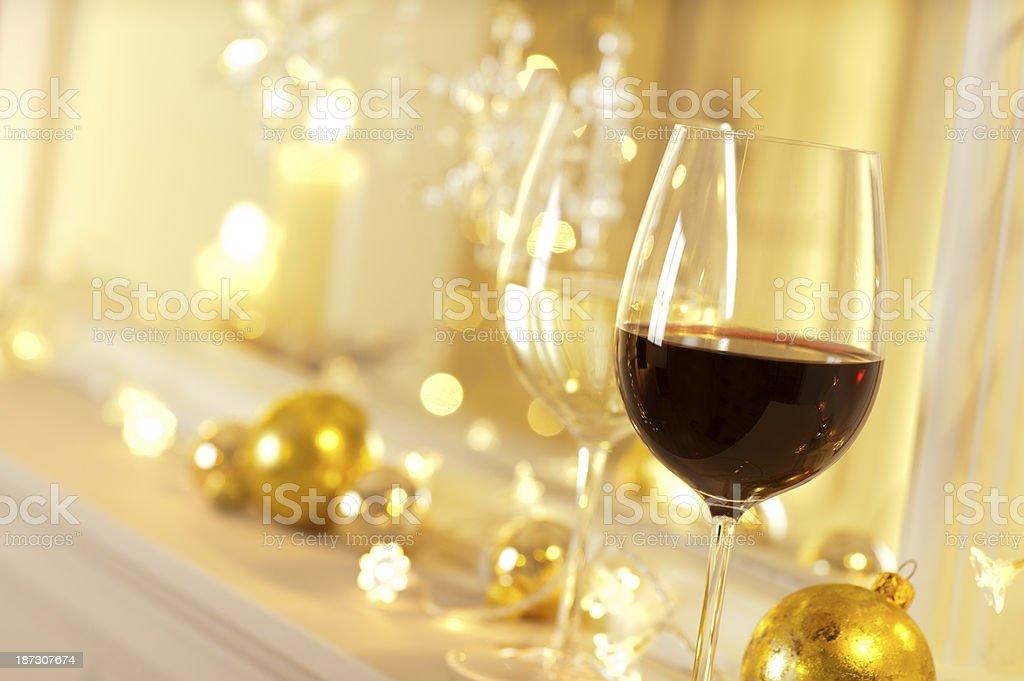 Festive Wine royalty-free stock photo