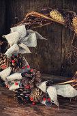 Festive wreath decoration