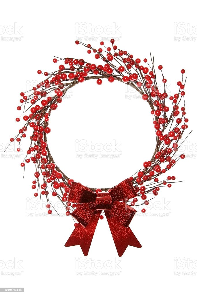 Festive wreath royalty-free stock photo