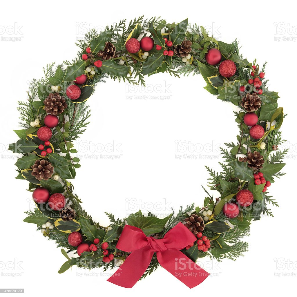 Festive Wreath royalty-free stock photo