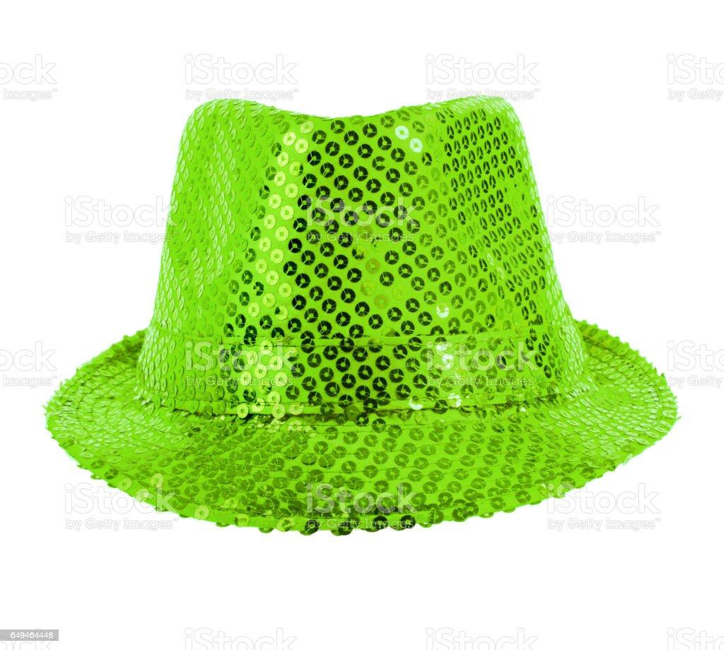 festively green hat stock photo