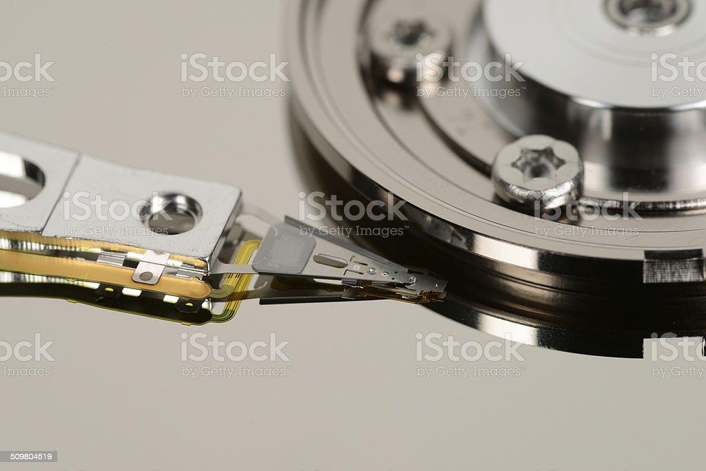 Festplatte - Lesekopf stock photo