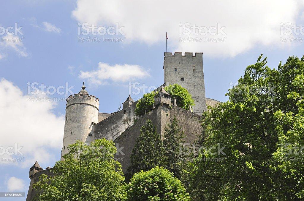 Festung Hohensalzburg in Salzburg stock photo