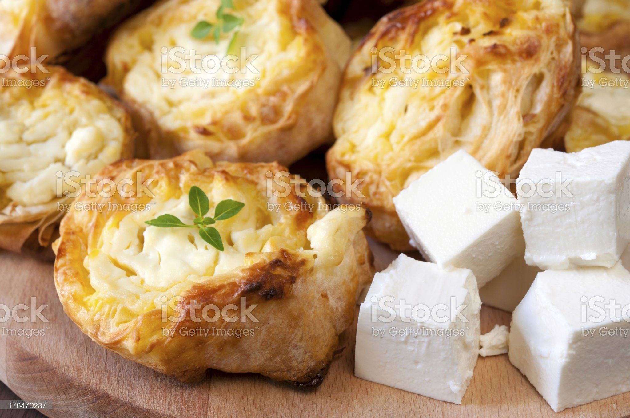 Feta cheese and pastry royalty-free stock photo