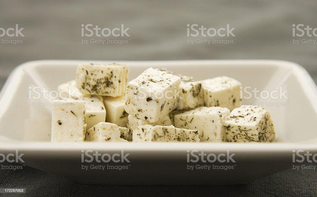 Feta cheese cubes royalty-free stock photo