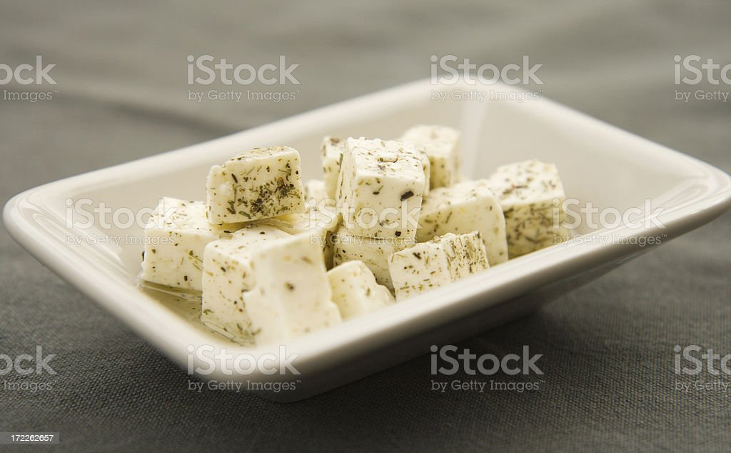 Feta cheese cubes royalty-free stock photo