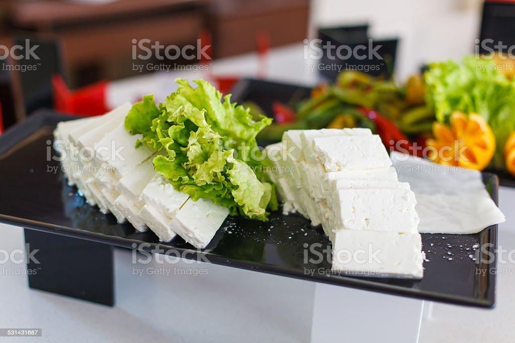 Feta cheese stock photo