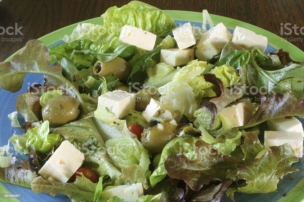 feta cheese salad royalty-free stock photo