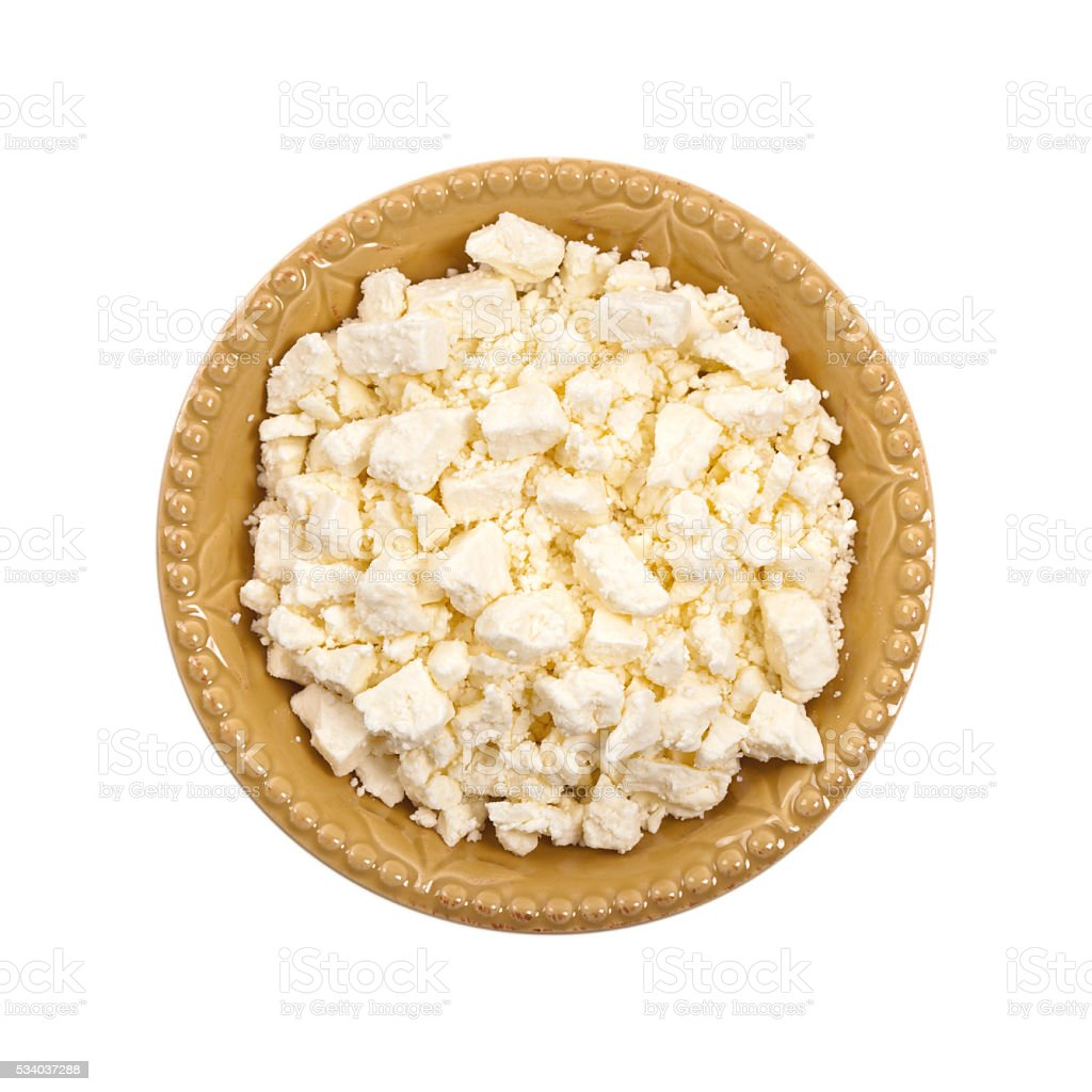 Feta Crumbled Cheese stock photo