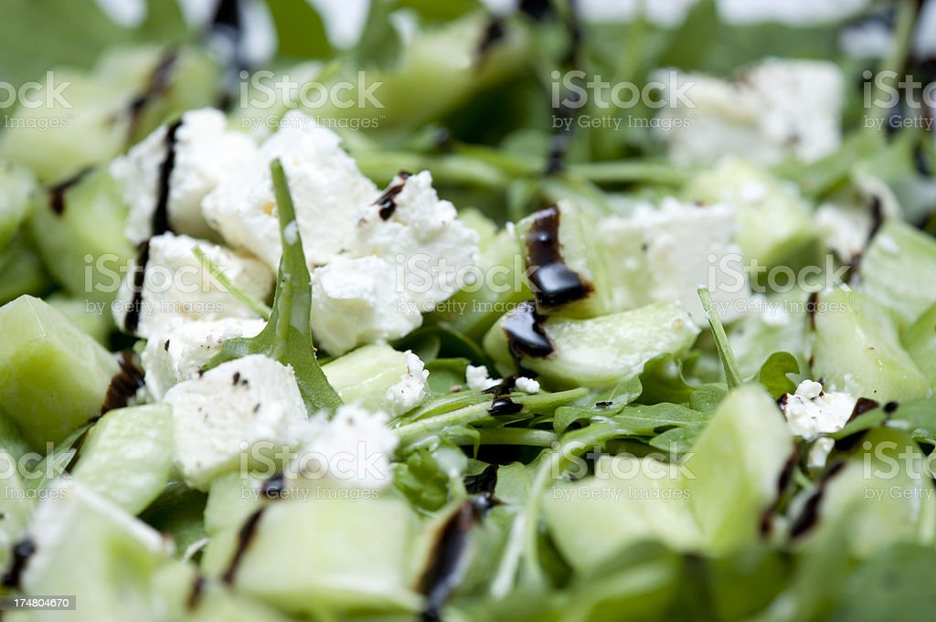 Feta - Schafskäse und Gurke royalty-free stock photo