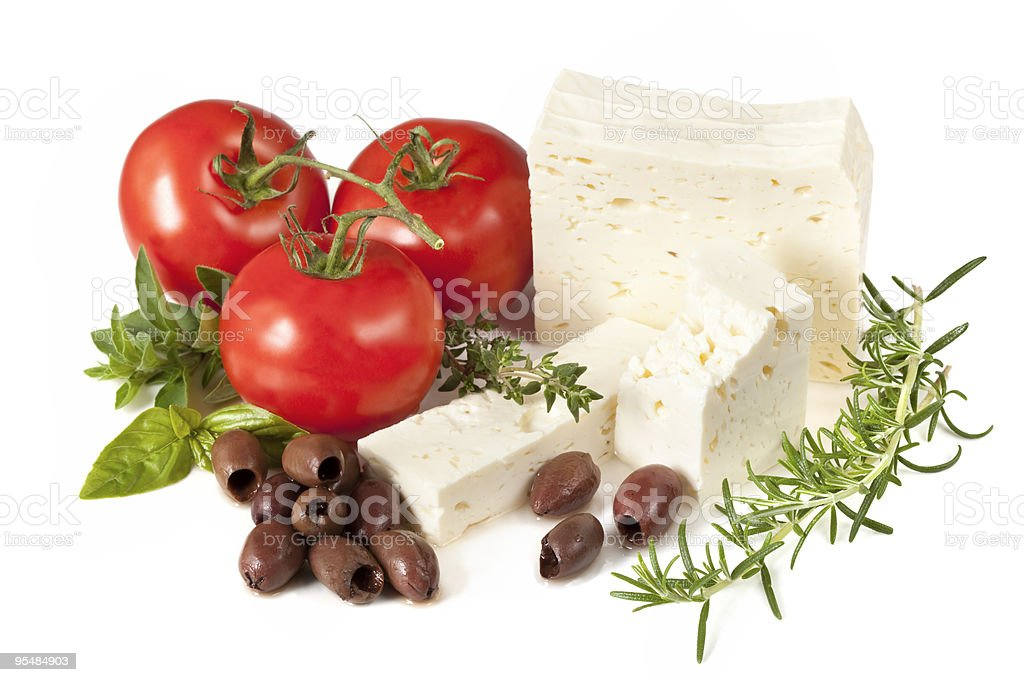 Feta, Tomatoes, Olives and Herbs royalty-free stock photo