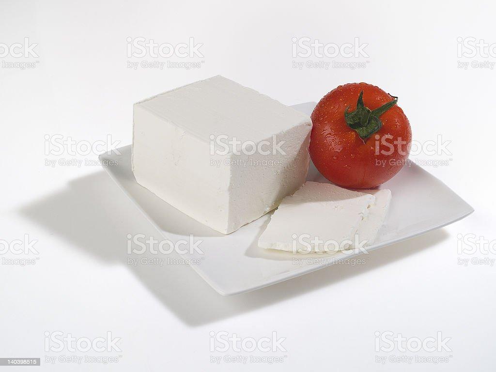 feta with tomato royalty-free stock photo