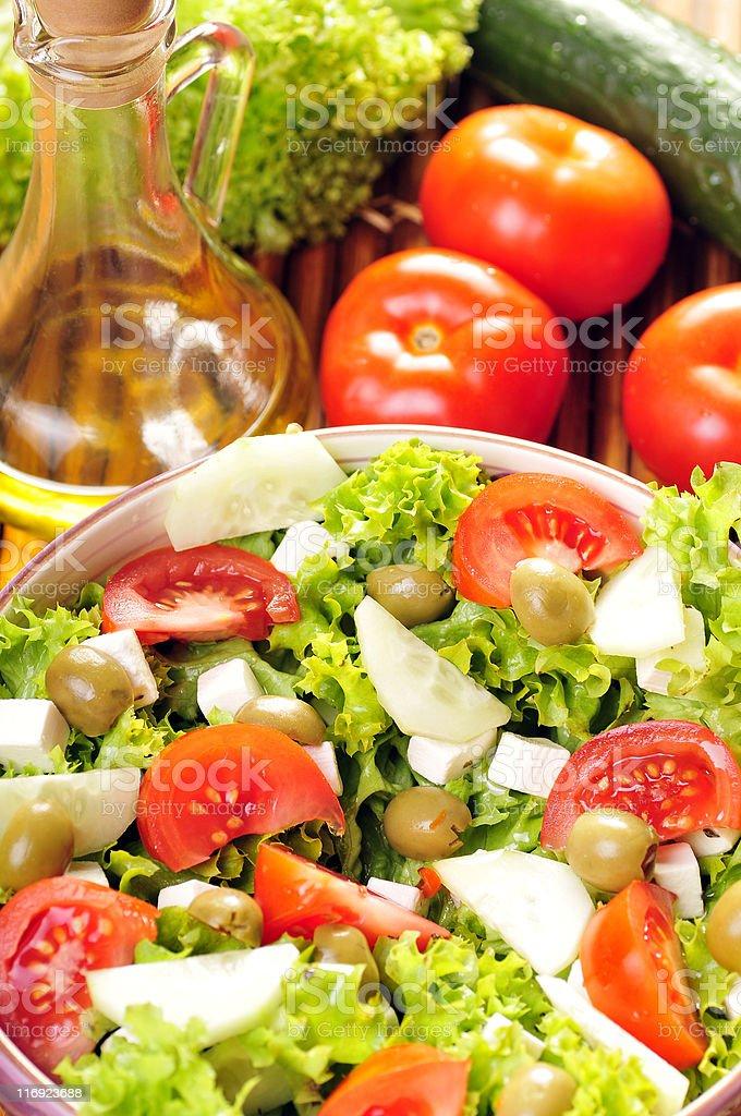 Feta-cheese salad royalty-free stock photo