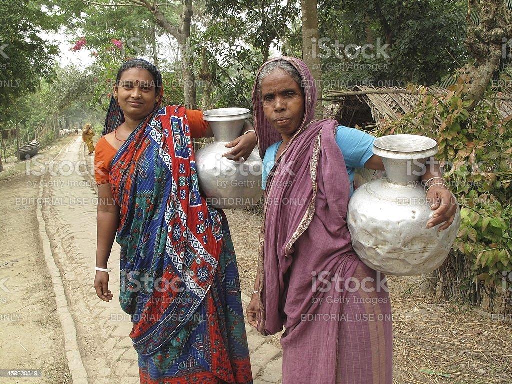 fetching water in Bangladesh stock photo