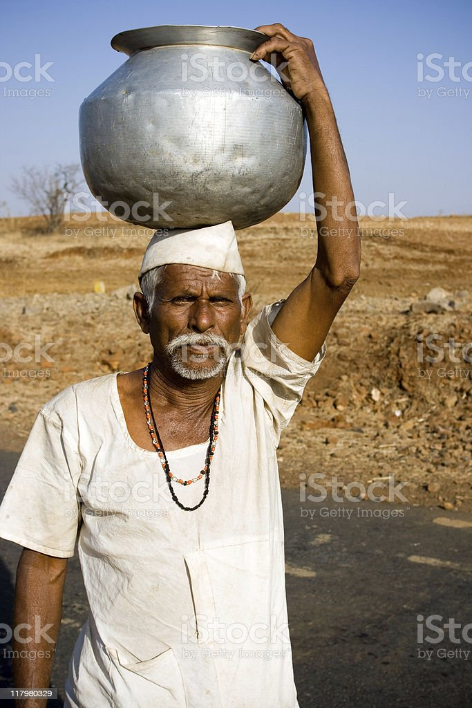 Fetching Water royalty-free stock photo