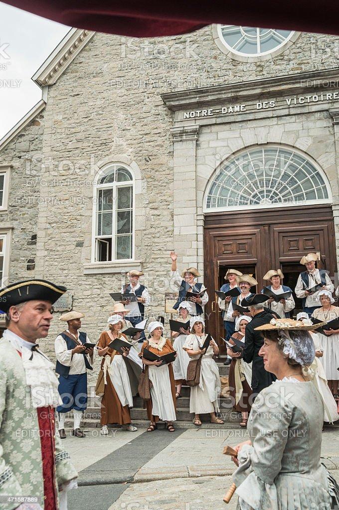 Fetes de la Nouvelle-France, Vieux-Quebec. royalty-free stock photo