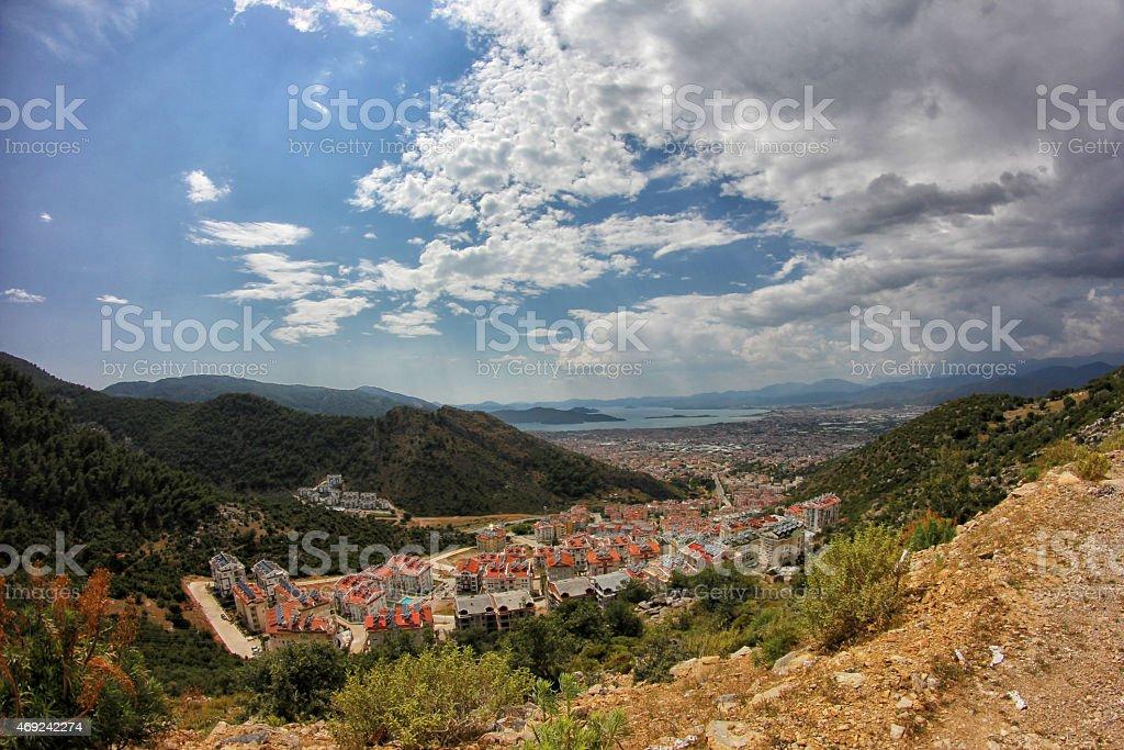 Fethiye City stock photo