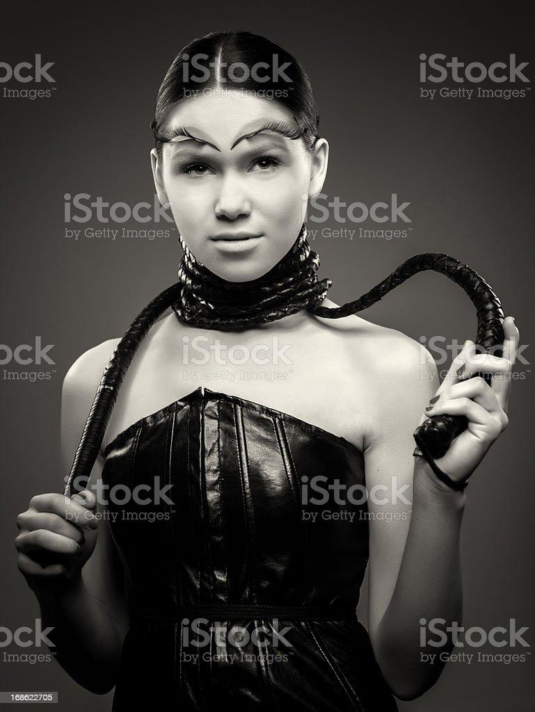 fetish woman stock photo