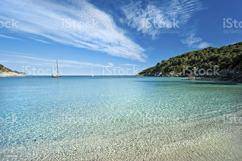 Fetovaia beach, Elba island. Italy. stock photo