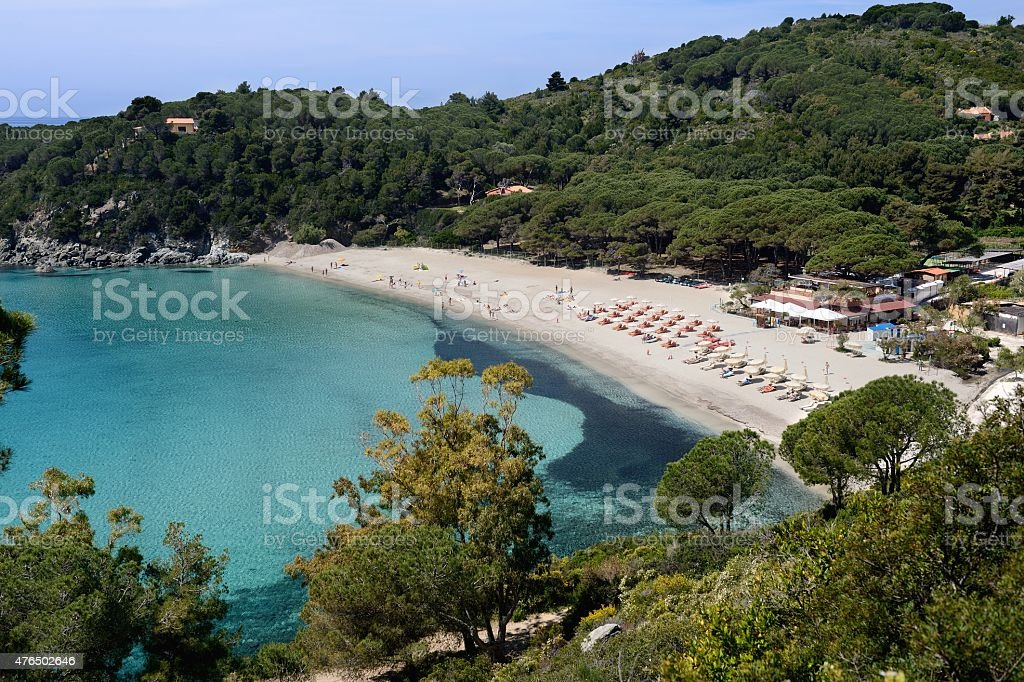 Fetovaia-Elba island stock photo