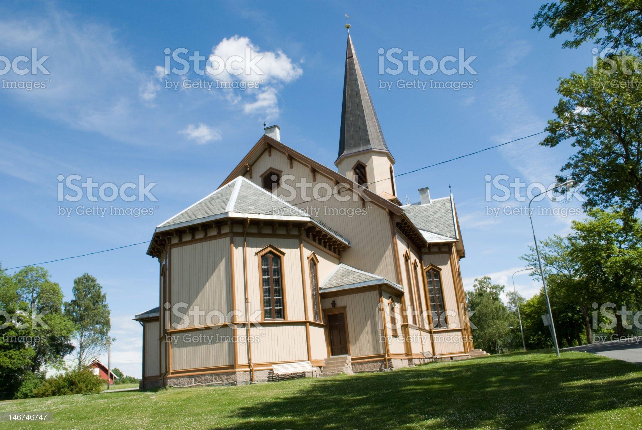 Fetsund church royalty-free stock photo
