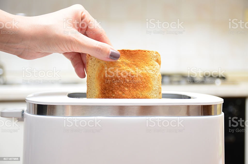 Fette di toast appena tostate royalty-free stock photo