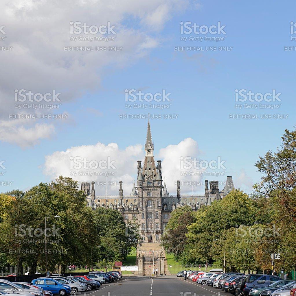 Fettes College in Edinburgh stock photo
