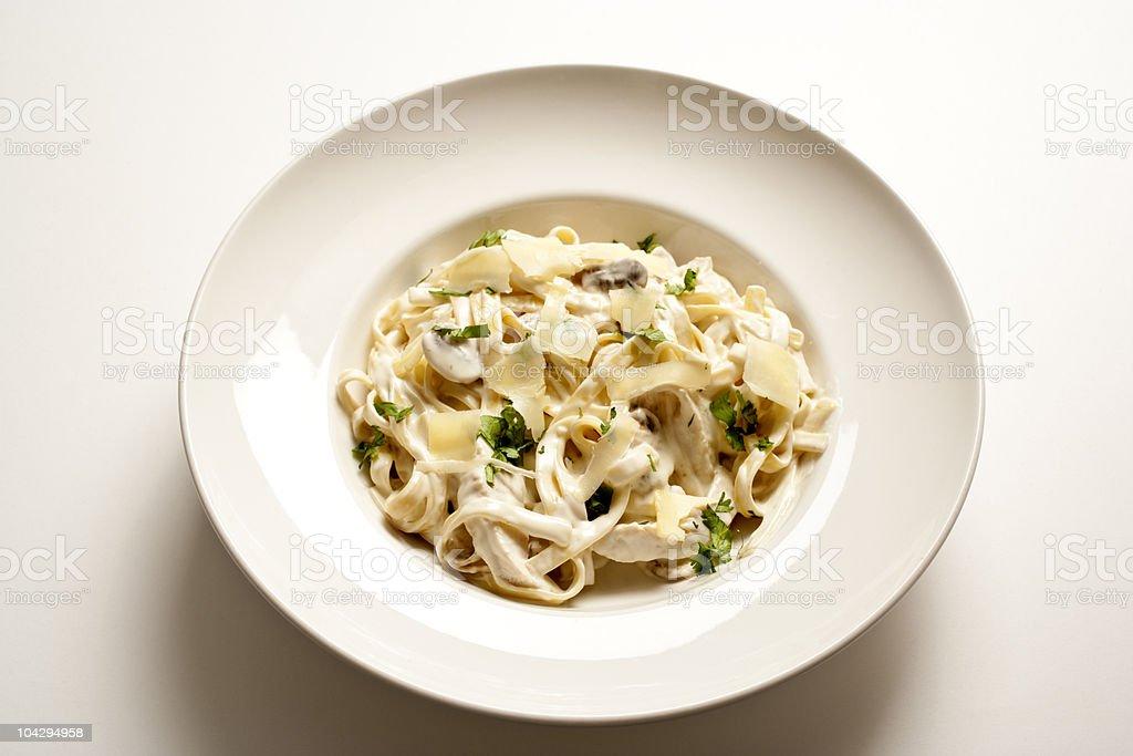 Fettuccine Alfredo stock photo