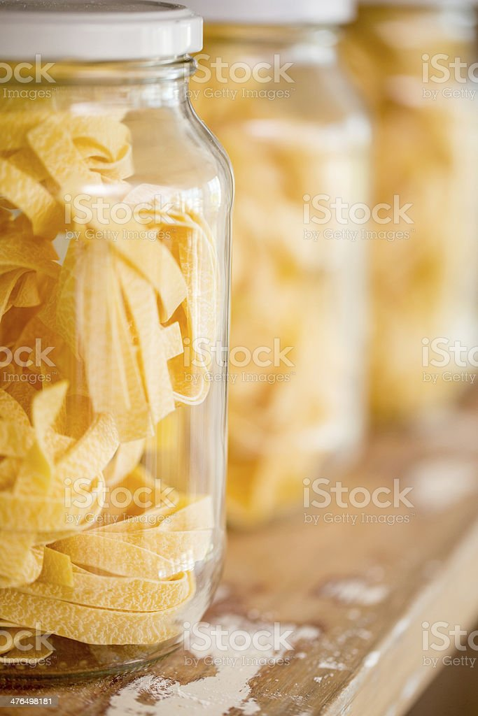 Fettuccine pasta royalty-free stock photo